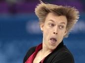 Tomáš Verner se snaží předvést co nejlepší výkon ve volném programu na...