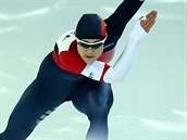 Karolína Erbanová v olympijském závodě na 500 metrů.