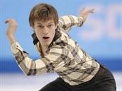Tomáš Verner během krátkého programu na olympiádě v Soči.