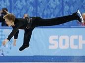 Tom� Verner p�i voln� j�zd� na olympijsk�ch hr�ch v So�i.