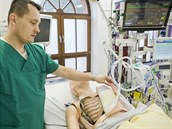 Model, který umožní nácvik umělé plicní ventilace.