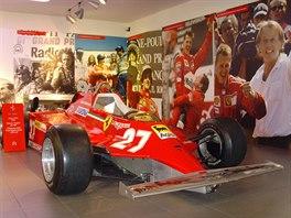 Model Ferrari 126C zroku 1981 vmuzeu vMaranellu