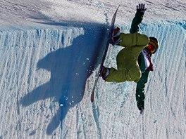 P�D NA RAMP�. �esk� snowboardistka ��rka Pan�ochov� pad� p�i kvalifika�n� j�zd�...