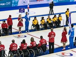 Arénu si jako první vyzkoušeli už v únoru 2013 curlingoví vozíčkáři při