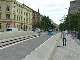 Vizualizace vzhledu mostu na Masarykově třídě po přestavbě v rámci budování...