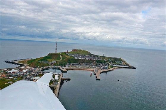 Ostrov Helgoland s přístavem