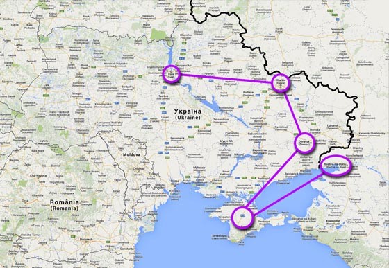 Janukovyčova cesta z Ukrajiny do Ruska