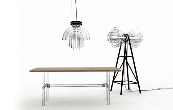 Kolekce svítidel Transmission a Air table pro firmu Kavalier Design
