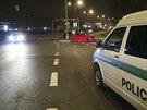 Při střetu vozu strážníků městské policie s fabií na Praze 11 se zranili tři...
