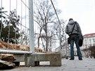 Tudy to nepůjde. Revitalizace parku ovlivňuje i běžný život lidí ve Znojmě.