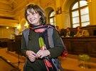 Petra Procházková při veřejném slyšení kandidátů do Rady ČT (25. února 2014)