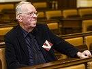 Milan Uhde při veřejném slyšení kandidátů do Rady ČT (25. února 2014)
