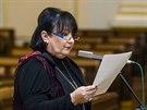 Eva Jurinová při veřejném slyšení kandidátů do Rady ČT (25. února 2014)