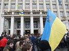 Ještě počátkem týdne Zakarpatskou oblast pevně ovládala Janukovyčova Strana...