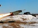 Ostré střelby ukrajinské armády z raketometů Grad