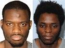 Michael Adebolajo (vlevo) a Michael Adebowale (vpravo) na kombu policejních...