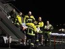 Do Česka dorazil první ze dvou letounů s vážně zraněnými Ukrajinci (27. února