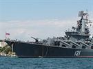 Ruský raketový křižník Moskva, patřící k Černomořské flotile