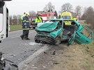 Dopravní nehoda na silnici mezi Blešnem a Nepasicemi na Královéhradecku. (19....
