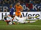 DAL�� R�NA SCHALKE. Karim Benzema z Realu Madrid st��l� svou druhou branku