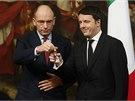 Nový předseda italské vlády Matteo Renzi se ujímá premiérského úřadu. (22.