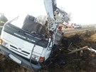 Nehoda plošiny u obce Vendolí