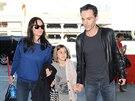 Courtney Coxov� s dcerou Coco a p��telem Johnnym McDaidem