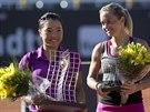 """Klára Zakopalová (vpravo) došla """"jen"""" do finále turnaje v Riu de Janeiro, o"""