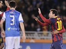 VYROVN�NO. Na 1:1 na p�d� San Sebastianu srovnal Lionel Messi (vpravo),...