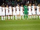ZA KYJEV. Fotbalist� �achtaru Don�ck dr�� minutu ticha za ob�ti boj� na