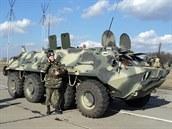 Manévry ukrajinského letectva v Nikolajevské oblasti 21. února 2014