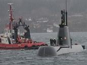 Portugalská ponorka poblíž přístavu v norském Bergenu