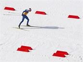 Český sdruženář Miroslav Dvořák při štafetě na 4x5 kilometrů v olympijském závodu družstev. (20. února 2014)