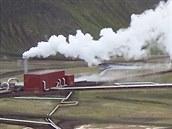 Geotermální elektrárna Krafla, na které došlo k navrtání kapsy s magmatem