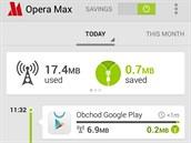 Opera Max sníží objem dat přenášených přes mobilní internetové připojení.