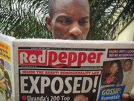 Magazín Red Pepper otiskl seznam 200 prominentních ugandských homosexuálů (25....