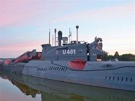 Sovětská ponorka přístupná veřejnosti slouží jako ponorkové muzeum v Peenemünde.