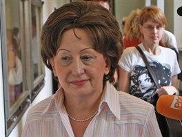 Kristina Mr�zkov� p�i jedn�n� Krajsk�ho soudu v Ostrav� v roce 2011.