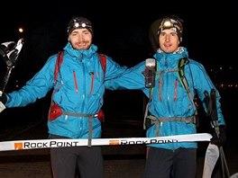 Vítězové 2. ročníku extrémního závodu Rock Point Zimní výzvy. Zleva: Pavel...
