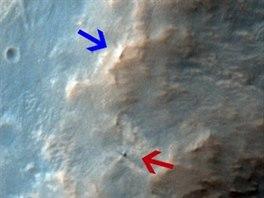 Snímek z paluby družice Mars Reconnaissance Orbiter pořízený 14. února 2014....