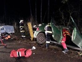Zásah u dopravní nehody na silnici z Proseče směrem na Zderaz dne 20. února...