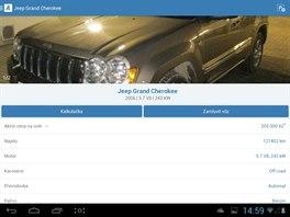 Prostřednictvím aplikace AAA Auto si můžete v tabletu prohlížet vozy z nabídky...