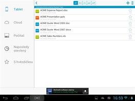 Documents To Go m� p�epracovan� rozhran� a spolupracuje s cloudov�mi �lo�i�ti.