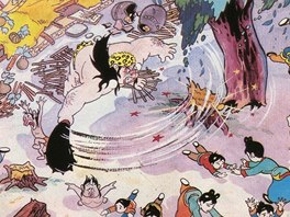 Ilustrace z korejské dětské knihy Chlapci zahubí bandity