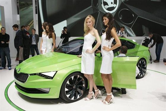 Koncept Škoda VisonC na autosalonu v Ženevě