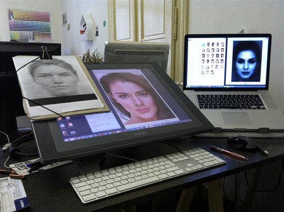Jak vznikal obrázek ideální české krásky: 1. úprava podkladových fotek, jejich...