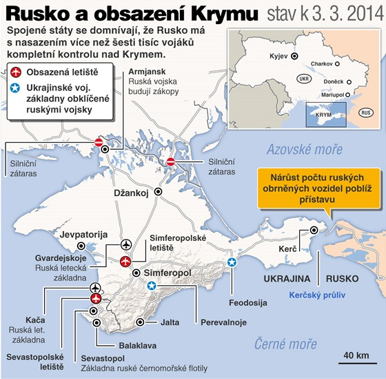 Rusko a obsazení Krymu (3. 3. 2014)
