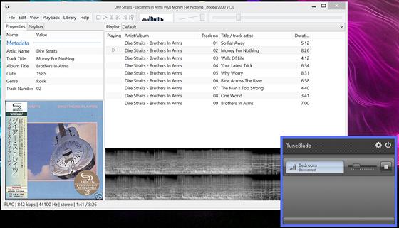 AirPlay přehrávání z TuneBlade pro Windows