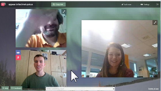 Zorganizování videokonference přes webovou službu appear.in je neobyčejně...