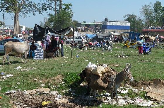 Pohraniční tržiště v Ouanaminthe